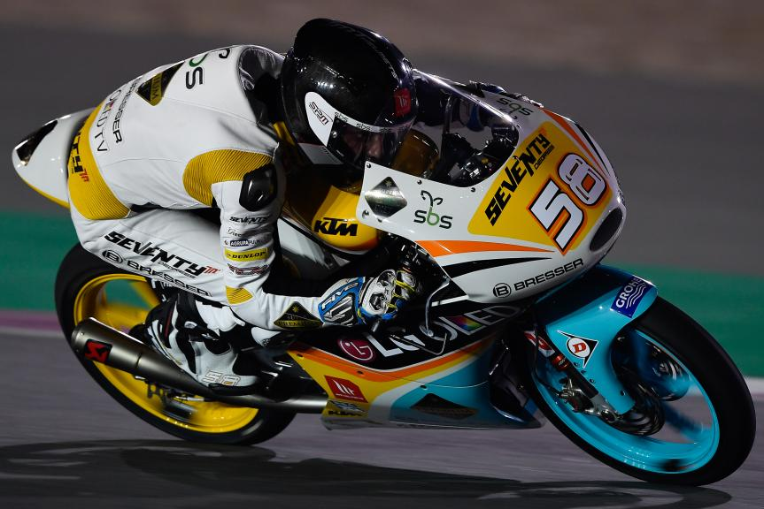 Juanfran Guevara, RBA BOE Racing Team, Qatar Moto2™ - Moto3™ Official Test