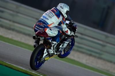 Fenati remains top after shortened final day in Qatar