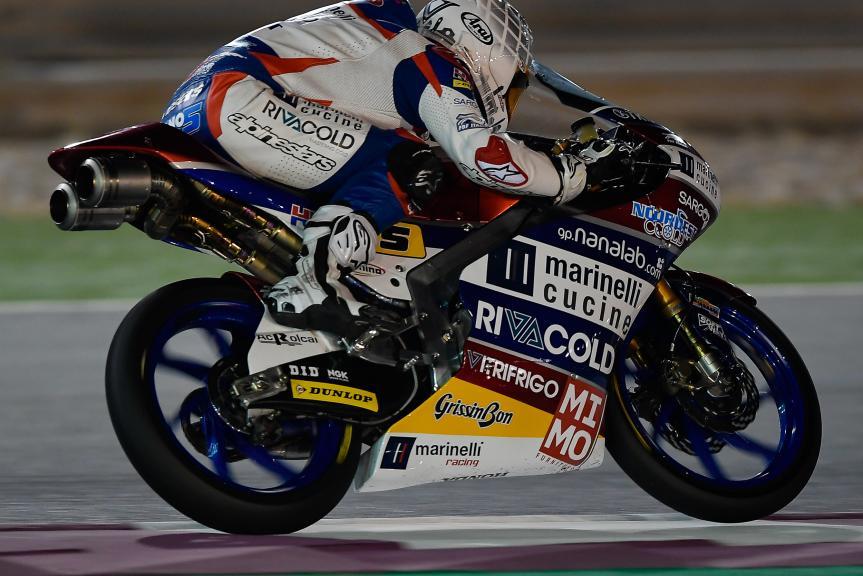 Romano Fenati, Marinelli Rivacold Snipers, Qatar Moto2™ - Moto3™ Official Test