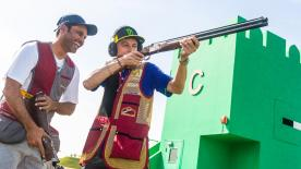 The nine-time World Champion took time away from the MotoGP™ paddock to go skeet shooting at the Losail Shooting Complex