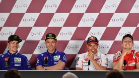 We catch up with four out of the six riders who attended the MotoGP™ pre-event Press Conference in Qatar