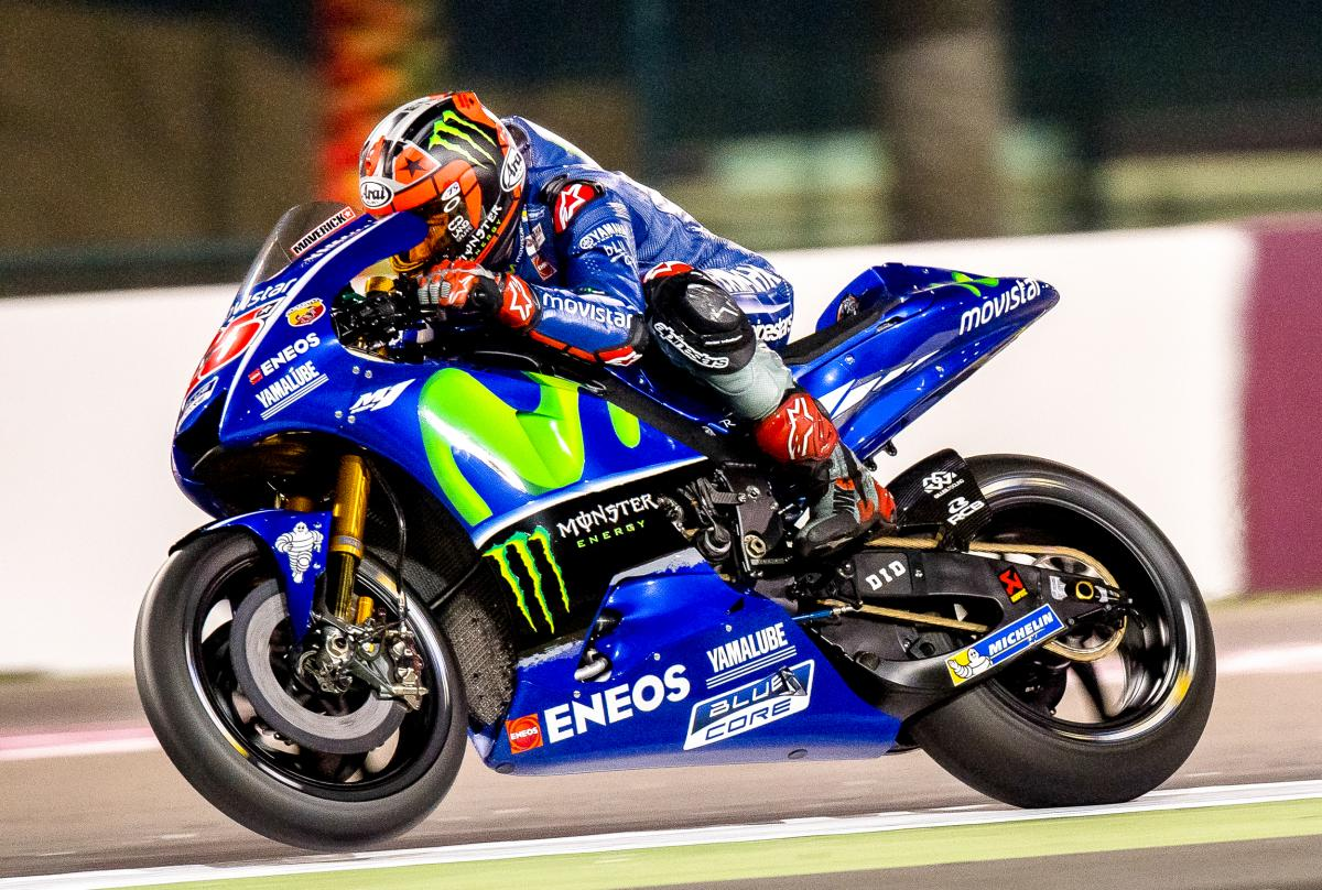 Viñales keeps his view from the top in FP1 | MotoGP™