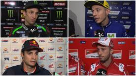 The fastest MotoGP™ riders of the day give us feedback on the Free Practice sessions at the #QatarGP.