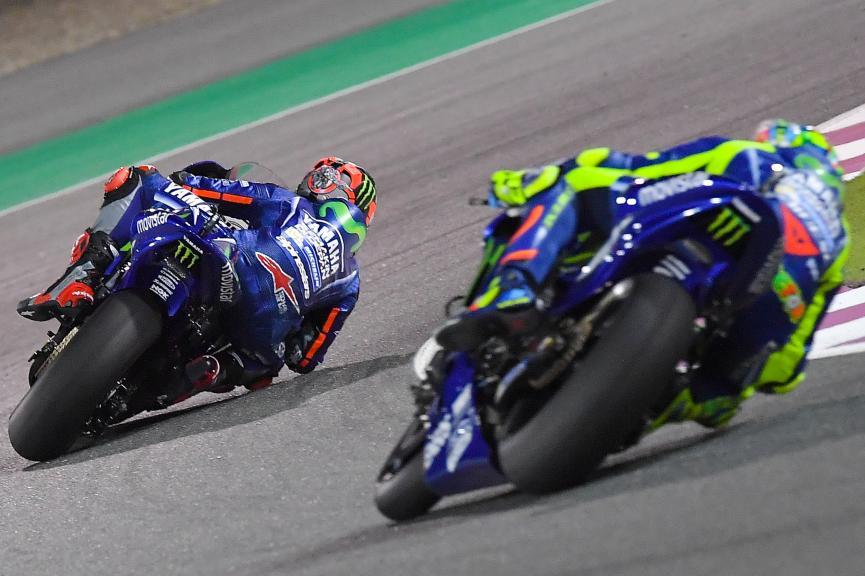 Maverick Vinales, Movistar Yamaha Motogp, Valentino Rossi, Movistar Yamaha Motogp, Grand Prix of Qatar