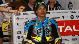 Franco Morbidelli and Alex Marquez headed the field, with Tomas Luthi in 3rd position