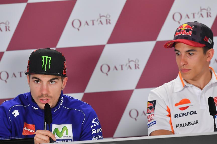 Maverick Vinales, Movistar Yamaha Motogp, Marc Marquez, Repsol Honda Team, Grand Prix of Qatar