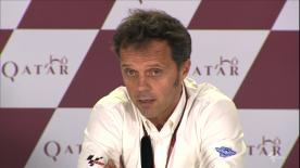 Loris Capirossi, Race Direction, commenta il sabato di qualifiche cancallate a Losail.