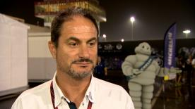 Manager of the Michelin MotoGP™ programme Piero Taramasso explains tyre performance at the #QatarGP
