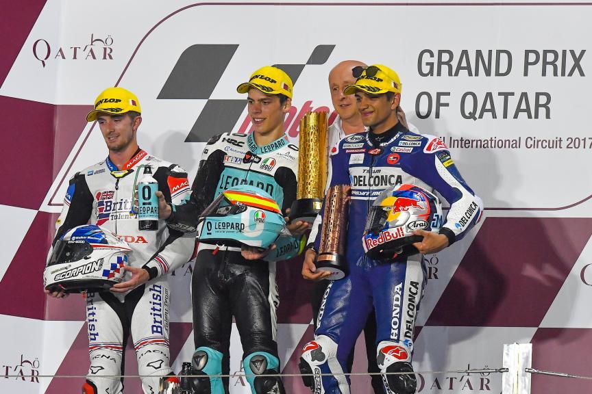 Joan Mir, John Mcphee, Jorge Martin, Grand Prix of Qatar