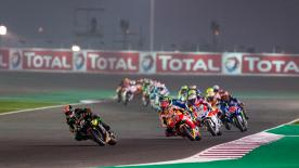 All the action from the full race session of the MotoGP™ World Championship at the #QatarGP.