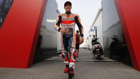 Marc Marquez explains why he eventually switched to the medium front tyre moments before Sunday's Qatar GP