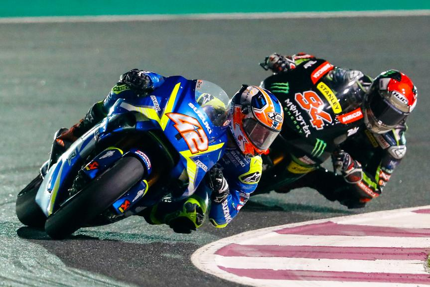 Alex Rins, Team Suzuki Ecstar, Jonas Folger, Monster Yamaha Tech 3, Grand Prix of Qatar