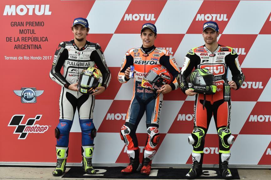 Marc Marquez, Karel Abraham, Cal Crutchlow, Gran Premio Motul de la República Argentina