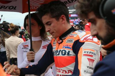 Drama in Argentina as Marquez crashes out