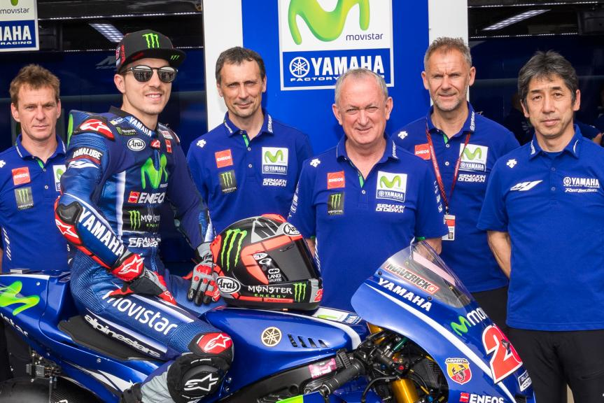 Maverick Vinales and Ramon Forcada, Movistar Yamaha MotoGP