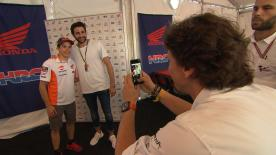 The Spanish basketball player visited the Circuit of the Americas to meet the stars in motorcycle racing