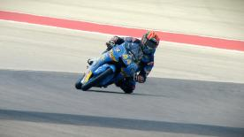 The Estrella Galicia 0,0 rider finished ahead of Mir and Fenati on Friday at CoTA