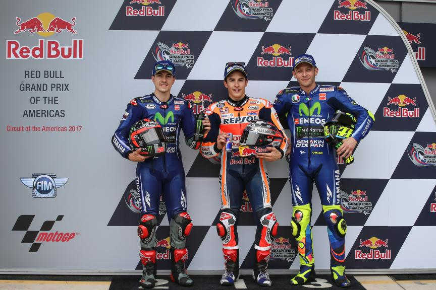 Marc Marquez, Maverick Vinales, Valentino Rossi, Red Bull Grand Prix of The Americas