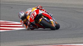 Marc Marquez took a sensational pole position in Texas ahead of Movistar Yamaha's Maverick Viñales and Valentino Rossi