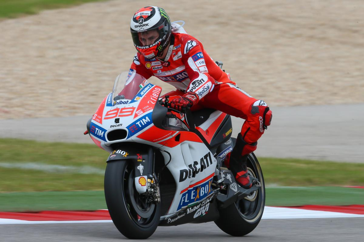 Lorenzo: first Ducati and second row at COTA | MotoGP™
