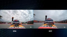 Marquez Pole Lap 2016 vs Marquez Pole Lap 2017