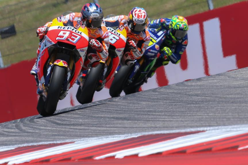 Dani Pedrosa, Valentino Rossi, Marc Marquez, Red Bull Grand Prix of The Americas