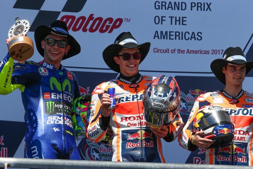 Dani Pedrosa, Valentino Rossi, Marc Marquez, Red Bull Grand Prix of The Americas