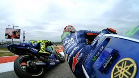 We look at the incident that occurred on-track in Q2 between the Movistar Yamaha teammates of Maverick Viñales and Valentino Rossi