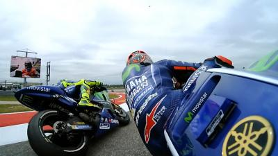 What happened with Viñales and Rossi in Qualifying?