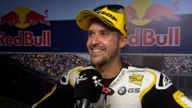 The Swiss rider took his third podium in three races in the Americas GP