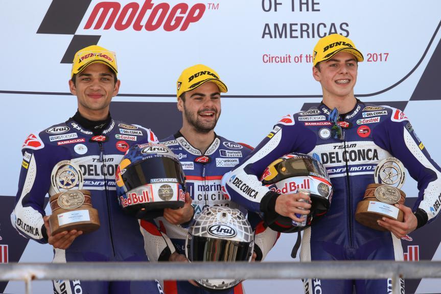 Romano Fenati, Jorge Martin, Fabio Di Giannantonio, Red Bull Grand Prix of The Americas
