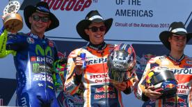 After crashing out in Argentina, Marc Marquez made amends at the Circuit of the Americas to take his first victory of the 2017 season