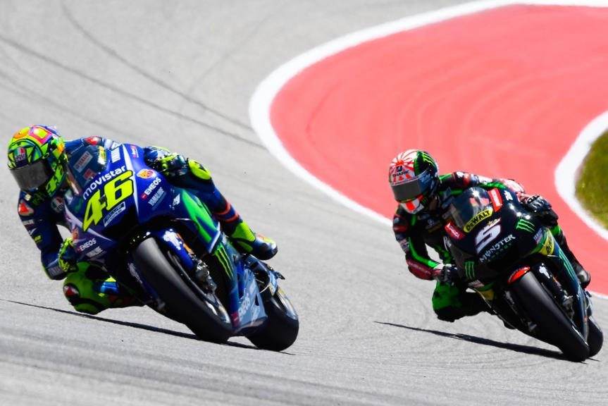 Valentino Rossi, Movistar Yamaha MotoGP, Johann Zarco, Monster Yamaha Tech 3, Red Bull Grand Prix of The Americas