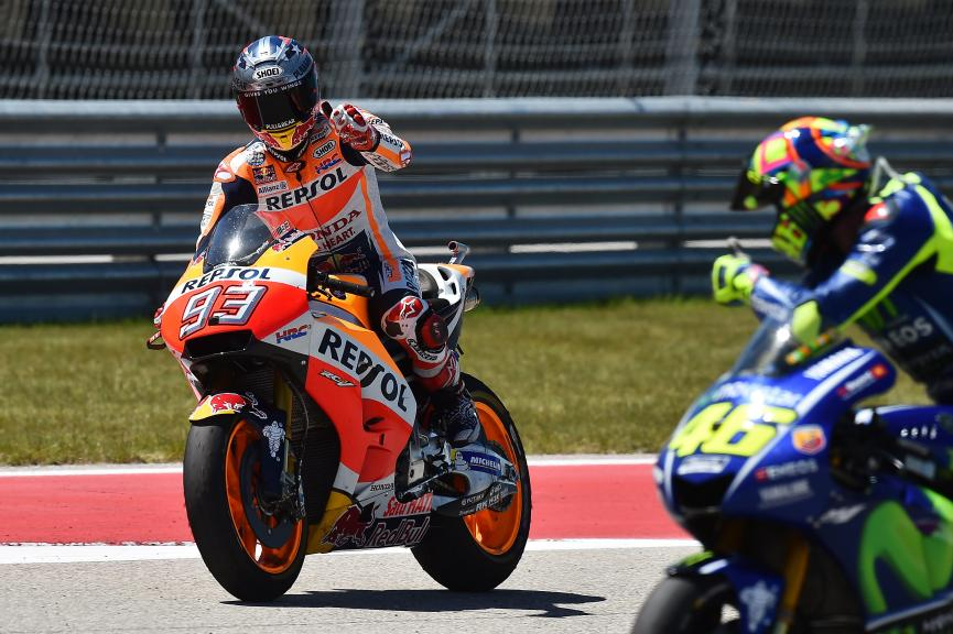 Marc Marquez, Repsol Honda Team, Valentino Rossi, Movistar Yamaha MotoGP, Red Bull Grand Prix of The Americas