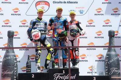 Alcoba, early leader of the Moto3™ Junior World Championship