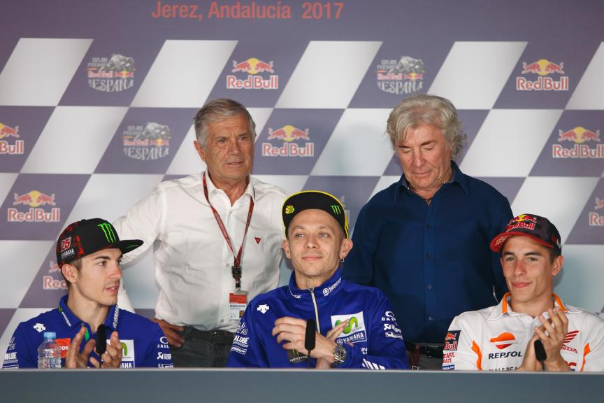 Maverick Vinales, Valentino Rossi, Marc Marquez, Gran Premio Red Bull de España