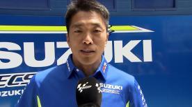 負傷欠場するアレックス・リンスの代役に指名されたスズキのテストライダー、津田拓也が初参戦の抱負を語る。