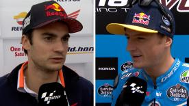 The fastest MotoGP™ riders of the day give us feedback on the Free Practice sessions at the #SpanishGP.