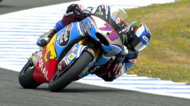 Márquez heads the pack on Friday in Jerez with Aegerter and Vierge in second and third respectively