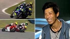 Where did Rossi learn to overtake at the final corner in Jerez? Haruchika Aoki and his passes there were a great way to learn for 'The Doctor'!