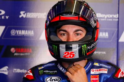 Viñales struggling with left side of the tyre