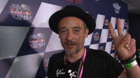 El grupo español ha aprovechado su presencia en el Festival Motor Circus para asistir al Gran Premio Red Bull de España