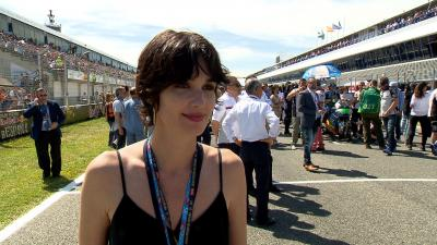 Paz Vega visits MotoGP™ at Jerez