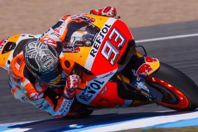 A Márquez le gustan los nuevos neumáticos delanteros