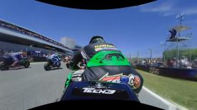 Enjoy exclusive footage of Johann Zarco OnBoard at the start of the MotoGP™ race in 360 vision