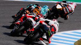 Some of the best overtaking moves from the Moto2 & Moto3 #SpanishGP races.   1. Nakarin Atiratphuvapat (Moto3) 33 points 2. Jules Danilo (Moto3) 32 points 3. Yonny Hernandez (Moto2) 31 points 4. Brad Binder (Moto2) 30 points 5. Kaito Toba (Moto3) 26 points