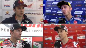 We catch up with a number of MotoGP riders after the test on Monday to gather their thoughts on the days' action
