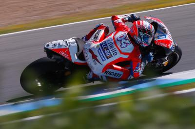 "Dovizioso satisfied after ""interesting set-up work"""