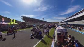 Enjoy all the action from the #SpanishGP Moto3™ Grid in 360!