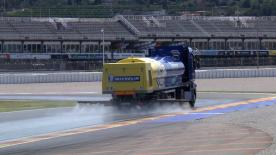 The Estrella Galicia Marc VDS rider tested wet tyres at the Circuito Ricardo Tormo